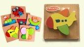 1 Adet Ahşap 3D Puzzle Yapboz Bultak - Eğitici Çocuk Oyuncak-6