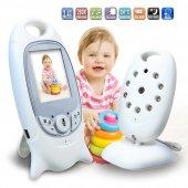Olix VB601 Lcd Ekranlı Kablosuz Wifi Bebek Kamerası Gece Görüşlü Oda Sıcaklığı Kontrollü
