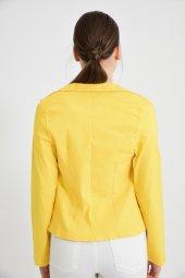 Sarı Çiçek Armalı Bayan Ceket 1690 17