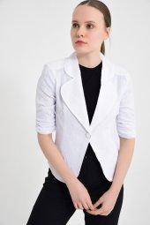 Beyaz Bayan Ceket 2270 2 561