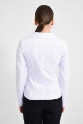 Beyaz  düz renk bayan ceket 2432-4-260 -3