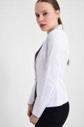 Beyaz  düz renk bayan ceket 2432-4-260 -5