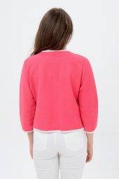 Beyaz şeritli kırmızı bayan ceket 7270-2705-3-933-3