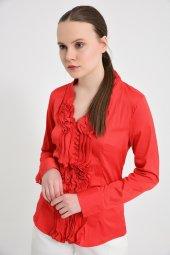 Büyük beden kırmızı bayan bluz  4420-4 232