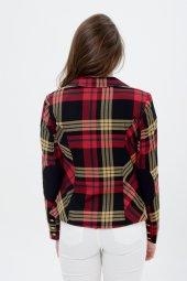 Kırmızı hardal şeritli bayan ceket 2390-4-650-2