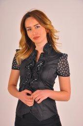 Bayan Siyah Bluz Gömlek 4430 2 232
