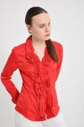 Büyük beden kırmızı bayan bluz  4420-4 232-3