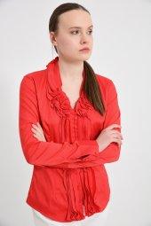 Büyük beden kırmızı bayan bluz  4420-4 232-4