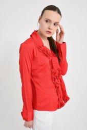 Büyük beden kırmızı bayan bluz  4420-4 232-5