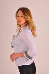 Bayan Beyaz Bluz Gömlek 4430 2 232