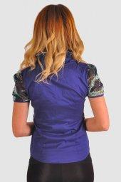 Bayan lacivert  bluz gömlek 4430-2-232-3