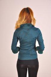 Bayan yeşil bluz gömlek 4430-2-232-4