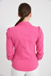 Bayan Pembe Gömlek Uzun Kol 4495 4 .9