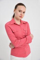 Kiremit Uzun Kol Bayan Gömlek 4510 4 9