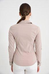 Bayan uzun kol vizon gömlek 4500-2-9 -3