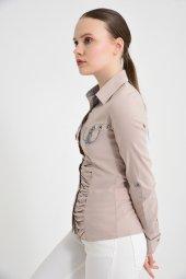 Bayan uzun kol vizon gömlek 4500-2-9 -4