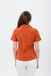 Kiremit kısa kol bayan gömlek  4250-2 -3
