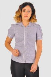 Bayan gri gömlek 4010-2-213 -4