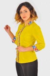 Bayan hardal gömlek 4415-3-232-4