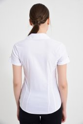 Beyaz Kısa Kol Bayan Gömlek 4415 2 9