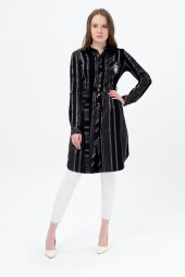 Bayan Kareli Siyah Armalı Tunik 7405 5