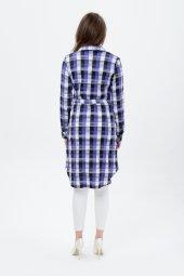 Bayan Kareli Mavi Armalı Tunik 7405 5