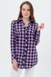 Bayan Kareli Gömlek Tunik 7005 4