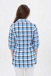 Bayan kareli gömlek tunik 7008-3 -2