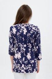 Bayan Lacivert Çiçekli Ceket 2605 3