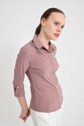 Bayan Vizon Göğüs Taşlı Gömlek 5480 5 9