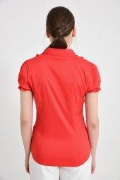Kırmızı yan düğmeli  bluz 4295-2-2