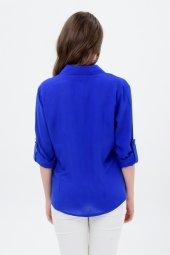 Büyükbeden Mavi Gömlek 4315 4