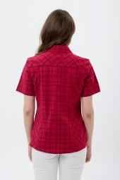 Büyük Beden Bordo Kareli Gömlek 4250 2