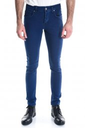 Erkek Mavi Slimfit Kot Pantolon-2