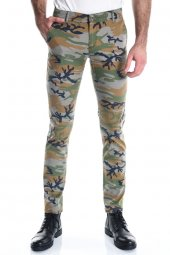 Kamuflaj Erkek Slimfit Sarı Chino Pantolon