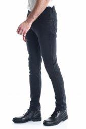 Siyah Sade Örme Armürlü Erkek Kot Pantolon-2