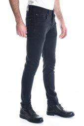 Siyah Sade Örme Armürlü Erkek Kot Pantolon-3