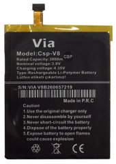 Casper Via V8 Batarya Pil Csp V8