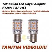 Py21w Bau15s Turuncu Led Yüksek Işık Tak Kullan Sinyal Ampulü