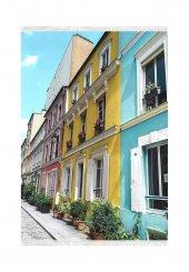 Belemir B157 Renkli Evler Dekoratif Halı