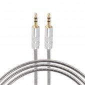 Auris Metal Yaylı 3.5mm Aux Audio Ses Kablosu...