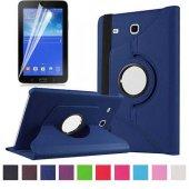 Samsung Galaxy Tab 3 Lite 7.0 T110 Dönebilen Standlı Kılıf Lacivert