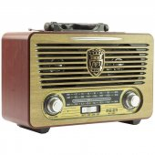 Meier M 115bt Şarjlı Nostaljik Bluetooth Hoparlör Fm Radyo Usb Sd Mp3