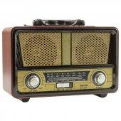 Meier M 112bt Şarjlı Nostaljik Bluetooth Hoparlör Fm Radyo Usb Sd Mp3