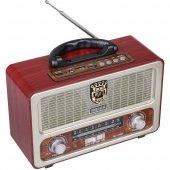 Meier M 111bt Şarjlı Nostaljik Bluetooth Hoparlör Fm Radyo Usb Sd Mp3