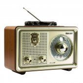 Meier M 110bt Şarjlı Nostaljik Bluetooth Hoparlör Fm Radyo Usb Sd Mp3