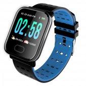 Olix A6 Smart Watch Akıllı Saat Suya Dayanıklı Nabız Ölçer Mavi