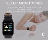 Olix A6 Smart Watch Akıllı Saat Suya Dayanıklı Nabız Ölçer Siyah-4
