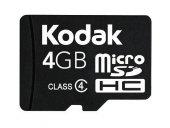 Kodak Extra 4gb Micro Sd Hafıza Kartı Ve Adaptör Sdhc Class 4