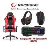 Rampage KL-R40 Throne Oyuncu Koltuğu + Rampage Oyuncu Seti HEDİYE-2
